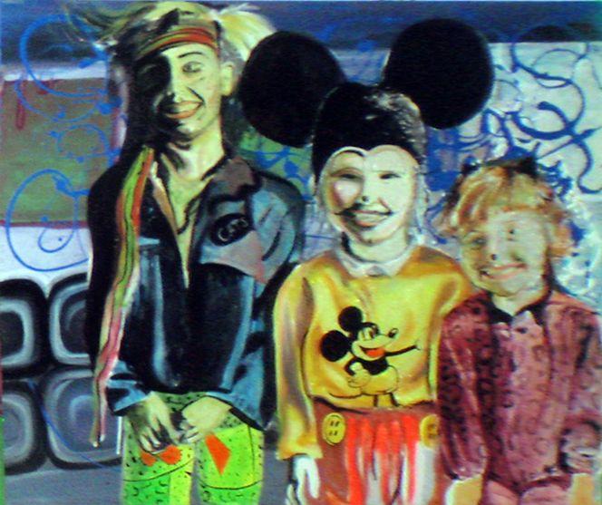 Mickeymouse, Regenbogen, Dekoration, Psychedelics, Surreal, Tageslicht