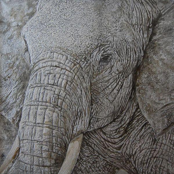 Malerei, Figural, Elefant