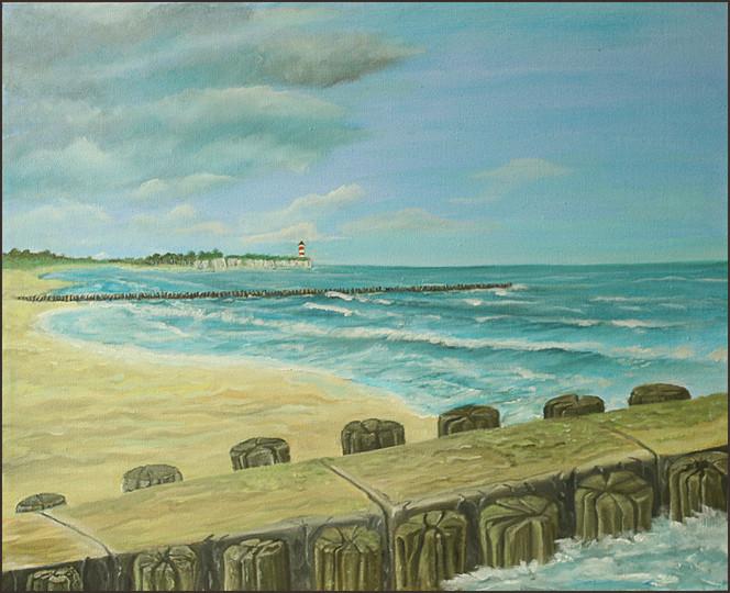 Brandung, Landschaft, Meer, Bunen, Strand, Ostsee