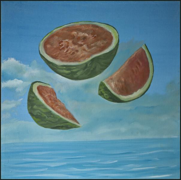 Nahrungsmittel, Melone, Stillleben, Meer, Malerei