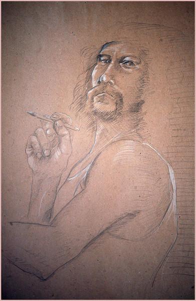 Selbstportrait, Menschen, Bleistiftzeichnung, Malerei