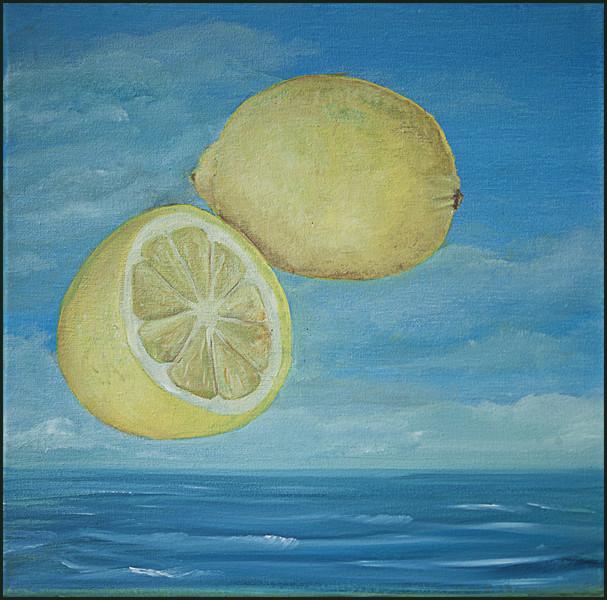 Zitrone, Stillleben, Nahrungsmittel, Meer, Malerei