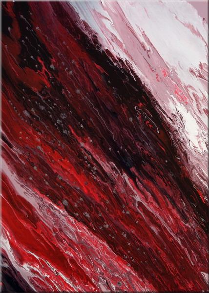 Acrylmalerei, Modern, Originell, Abstrakt, Rot, Malerei