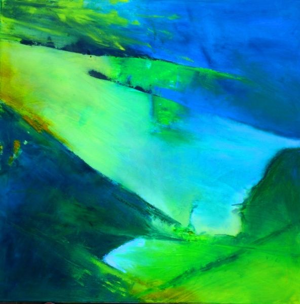 Abstrakt, Grün, Wasser, Modern, Ruhe, Blau