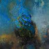 Zeitgenössische malerei, Abstrakt, Türkis, Fantasie