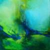 Mai-Impressionen l - Stille, grün, abstrakt, blau,Landschaft,Wasser