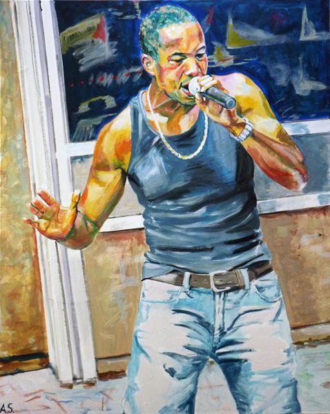 Menschen, Genremalerei, Rapper, Regine hildebrandt, Straßenmusik, Brooklyn