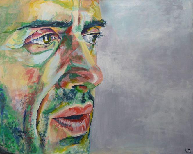 Portrait, Acrylmalerei, Menschen, Malerei,