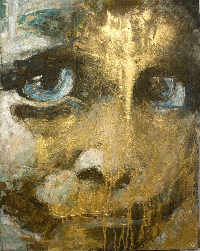 OT - Abstrakt, Gold, Vanessa uher, Figural von kunstvibe