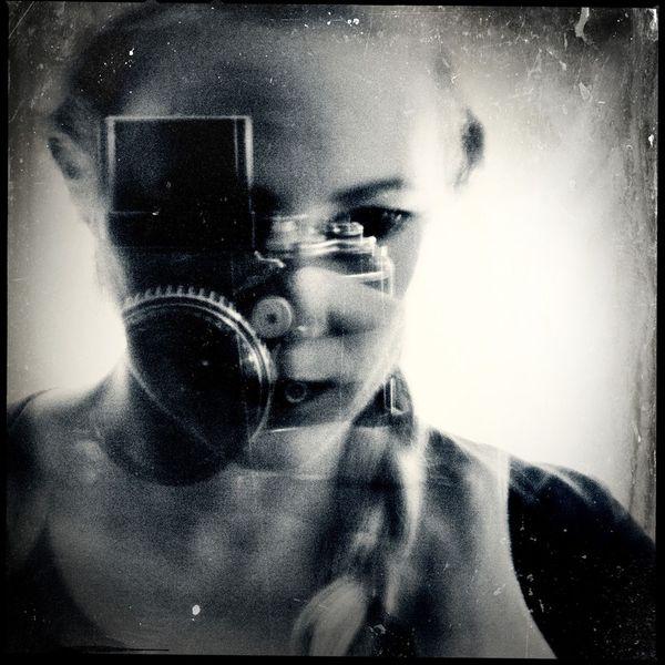 Selbstportrait, Langzeitbelichtung, Vanessa uher, Lensbaby, Analog, Fotografie