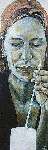 Ölmalerei, Frau, Portrait, Realismus, Malerei, Menschen