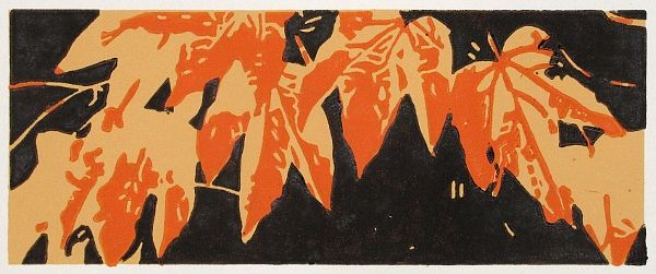 Linoldruck, Linolschnitt, Druckgrafik, Herbst