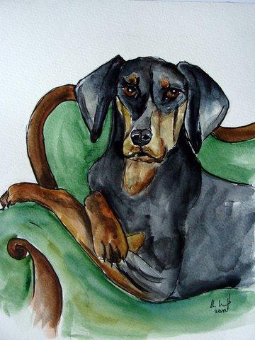 Hundekarikatur, Malerei, Menschen