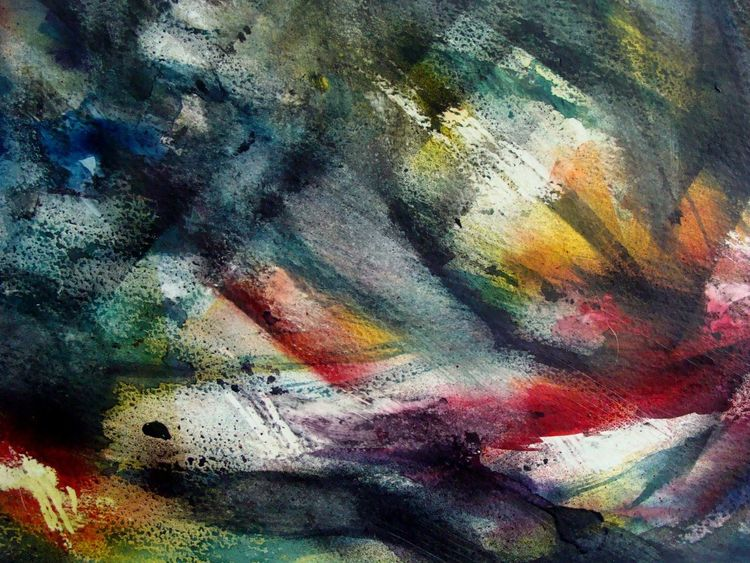 Aquarellmix, Moderne kunst, Aquarellmalerei, Aquarell, Fisch,