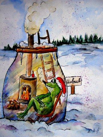 Weihnachten 2013 weihnachten aquarell 2013 von - Aquarell weihnachten ...