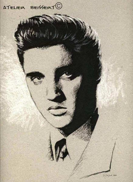 Portrait, Elvis presley, King, Rock´n roll, Stern, Kino