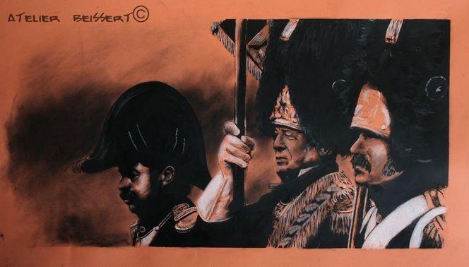 Napoleon, Völkerschlacht, Geschichte, Krieg, Zeichnung, Befreiungskriege