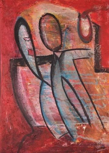 Tanz, Figur, Acrylmalerei, Malerei, Tango, Vulkan