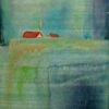 Häuser, Aquarellmalerei, Landschaft, Aquarell
