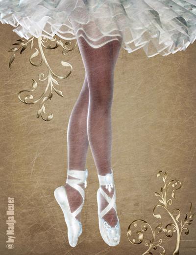 Ballerina bild kunst von nadja heuer bei kunstnet for Bild ballerina
