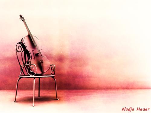 Dekoration, Geige, Klassiker, Musik, Stuhl, Romantik