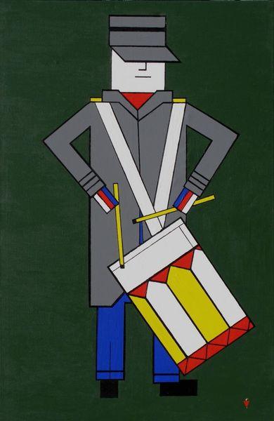 Blau jazz musik, Malerei