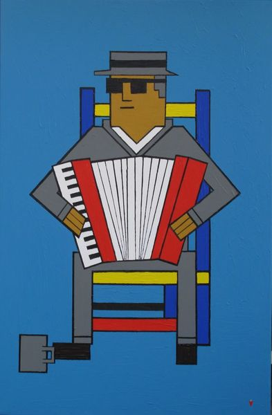 Accordeon, Blau jazz musik, Musik wein, Malerei, Andre, Box