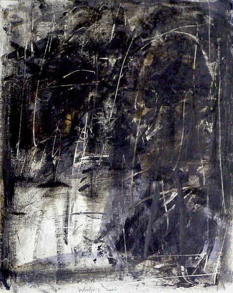 Abstrakt, Acryl auf papier, Malerei, Papierarbeiten,