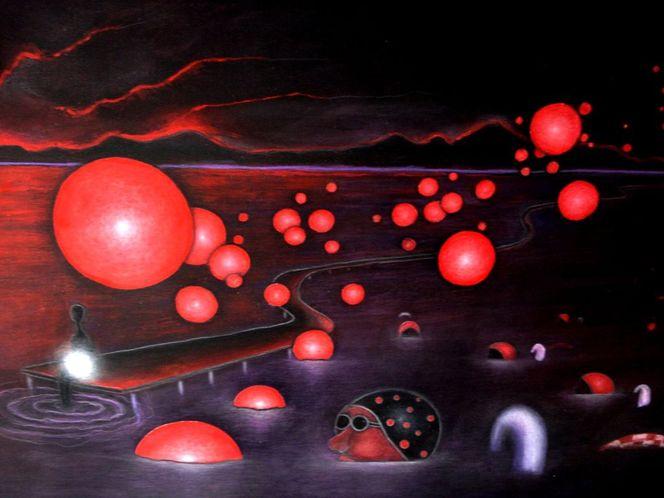 Rot, Malerei, Surreal