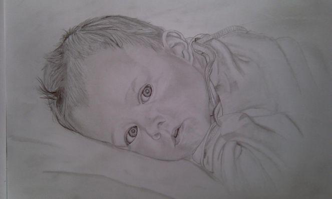 Portrait, Bleistiftzeichnung, Zeichnungen, Mädchen