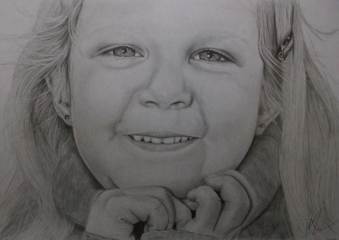 Kinder, Mädchen, Bleistiftzeichnung, Portrait, Zeichnungen, Tochter