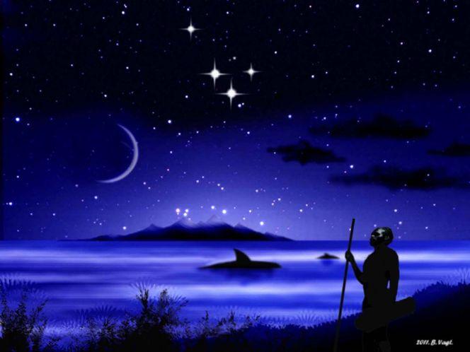 Universum, Stern, Tiere, Gemälde, Weltall, Mond