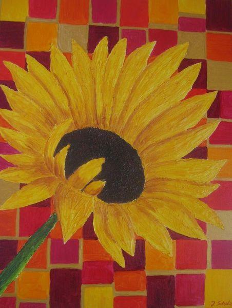 Kunstnet werke malerei pflanzen sonne