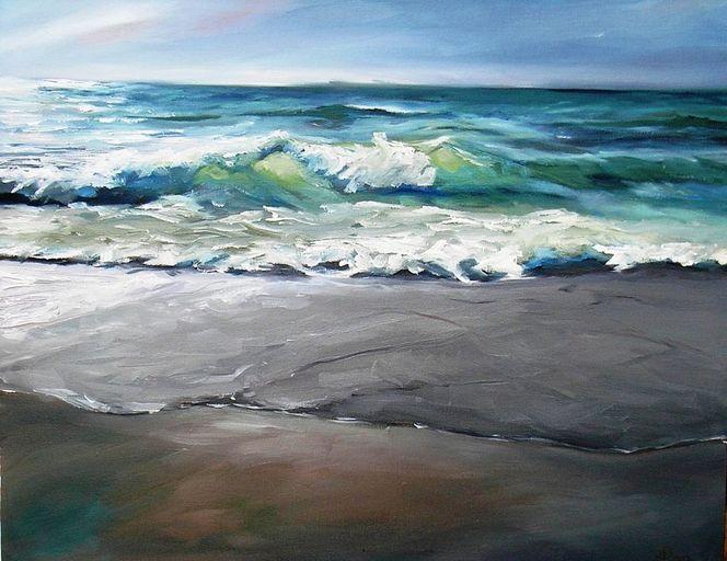 Sylt, Himmel, Welle, Malerei