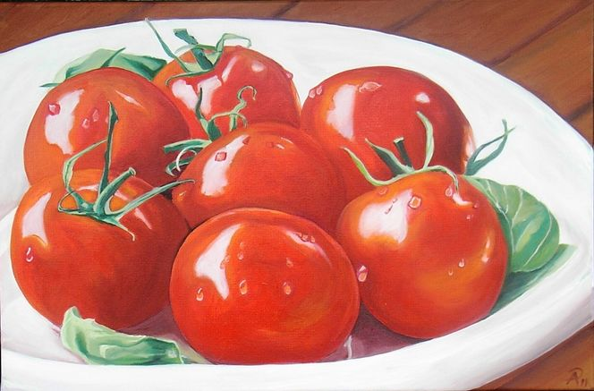 bild tomaten fr chte natur rot von traumbild bei kunstnet. Black Bedroom Furniture Sets. Home Design Ideas