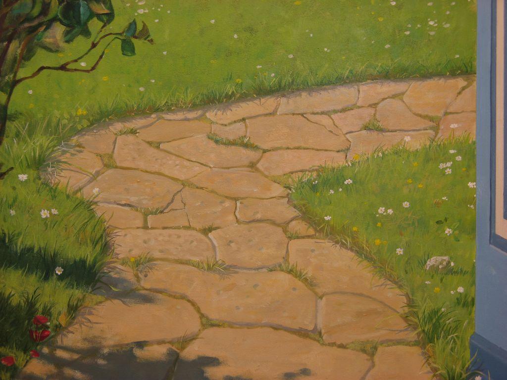 Landschaftsmalerei realismus  Bild: Illusionsmalerei, Wandmalerei, Realismus, Realistische ...