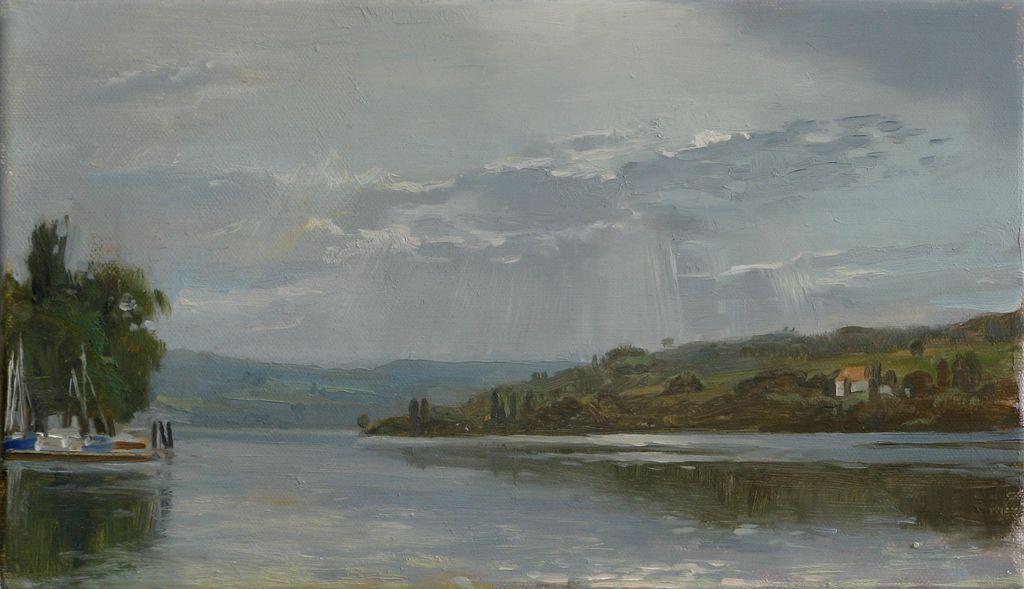 Landschaftsmalerei realismus  Bild: Ölmalerei, Realismus, Landschaftsmalerei, Realistische ...