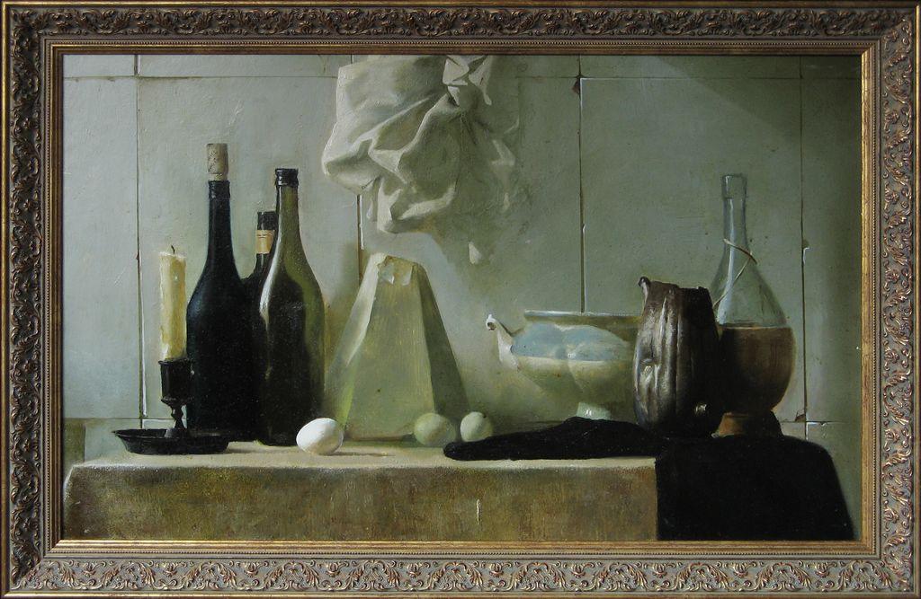 bild stillleben realistische malerei lmalerei realismus von alexander gerlach bei kunstnet. Black Bedroom Furniture Sets. Home Design Ideas