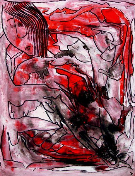 Frau, Natur, Rot, Weiß, Zeichnung, Zeichnungen