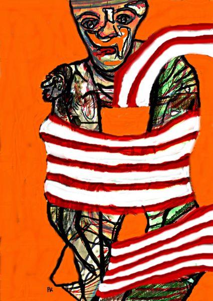 Digital art, Tuch, Portrait, Schal, Zeichnung, Fusion