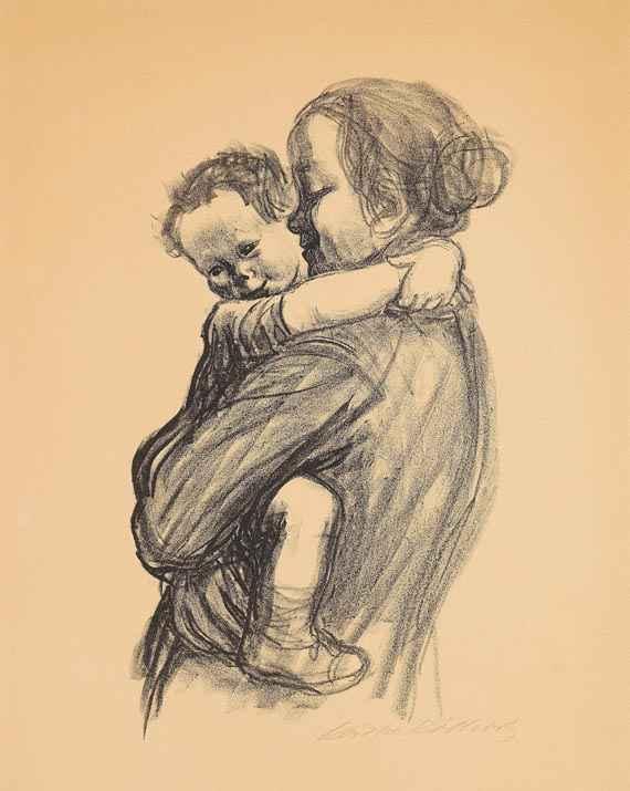Mutter mit Kind - Käthe Kollwitz