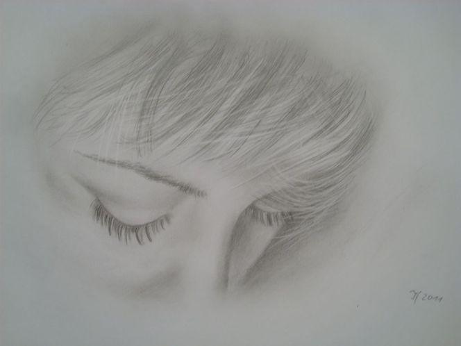 Portrait, Stille, Trauer, Bleistiftzeichnung, Augen, Zeichnungen