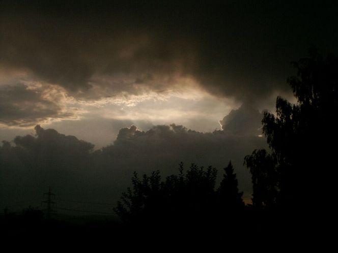 Wolken, Himmel, Donnerwetter, Wolkenspiel, Baum, Digitale kunst
