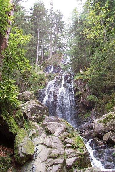 Baum, Wasserfall, Felsen, Himmel, Wasser, Fotografie