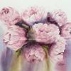 Pfingstrosen, Blumen, Paeonia, Aquarell