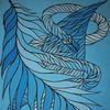 Schlange, Fantasie, Schlängeln, Acrylmalerei