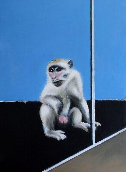 Isolation, Abgrenzung, Ape, Affe, Malerei, Tiere