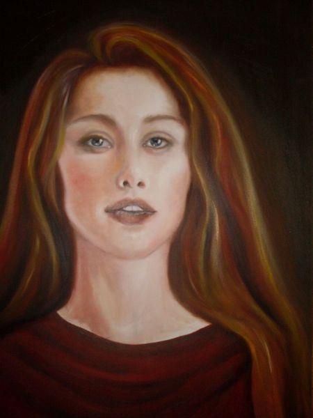 Nase haut, Model, Gesicht, Portrait, Lippen, Malerei