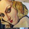 Hommage, Lempicka, Gemälde, Leinen