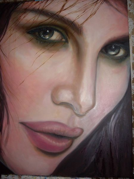 Lippen, Nase haut, Model, Surreal gesicht, Malerei, Gesicht
